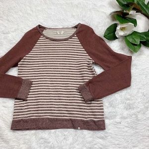 COPY - Volcom Maroon Striped Sweater XS